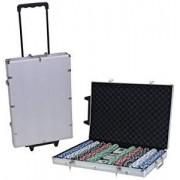 100/200/300/500/1000 Pcs Poker Chips Set with Aluminium Case , Multicolor by Krasa (1000Pcs)
