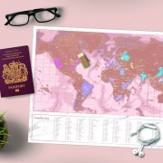 Luckies Scratch Map Roségoud reiseditie