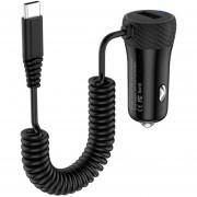 HoCo Z21A 3.4a Single Port C * Wired Fast Car Charger, Galaxy, Nokia, HTC, LG, Huawei, Xiaomi Y Otros Smartphones (negro)