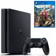 Конзола PlayStation 4 Slim 500GB Black, Sony PS4 + Игра Far Cry 4 за Playstation 4
