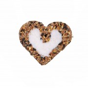 Dille&Kamille Boule de graisse pour oiseaux, coeur, 255 g