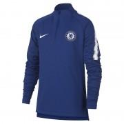 Haut de footballà manches longues Chelsea FC Dri-FIT Squad Drill pour Enfant plus âgé - Bleu