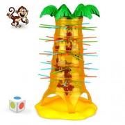 Falling Tumbling Monkey Family Toy, E-SCENERY Tumblin Monkeys Board Game For Kids Adults Family