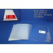 Busta trasparente porta carte o documenti 20x35cm 100 pezzi 148853 842