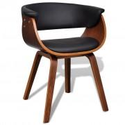 vidaXL Jedálenské stoličky z umelej kože a dreveným rámom