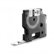 Etichete industriale autocolante DYMO ID1 nailon flexibil 12mm x 3.5m negru alb 18488 S0718100