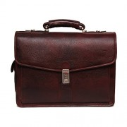 Comfort 16 inch Brown Pure Leather Laptop Shoulder Bags for Mens and Women EL359