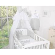 Startpaket / sängkläder till spjälsäng Little Prince - Grå