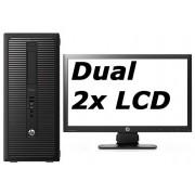 HP Elite 800 G1 Tower - Intel Core i5 - 4GB - 500GB HDD + Dual 3x 23'' Widescreen LCD