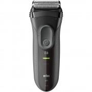 Aparat de barbierit Braun 300 BLACK, 3 elemente, NiMH , MicroComb, SensoFoilTM, Lavabil, Negru
