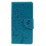 Capa Carteira Butterfly para Sony Xperia XZ, Xperia XZs - Azul