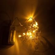 Catena luminosa decoLED con cristalli - 1.3 m, luce bianca calda, a batteria