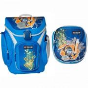 Ghiozdan scoala Explorer + sac sport, LEGO Core Line - design bleu Nexo Knights