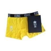 KUNG-kalsong i presentbox, gul, extra large