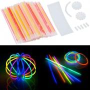 Pearl 100 Knicklichter in 6 Neon-Leuchtfarben, mit Steckverbindern, 20 cm