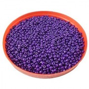 eshoppee Purple family colors glass seed beads pot 100 gm (approx3000 beads) for jewellery making and home decorationDIY kit (purple 42 100 gm) size 8/0