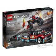 LEGO® Technic 42106 - Camion si motocicleta pentru cascadori