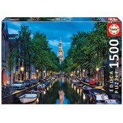 Educa Children's 1500 Amsterdam Canal At Dusk Puzzle (Piece)