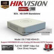 HIKVISION DS-7108HGHI-E1 Turbo HD 720P 8Ch. Tribrid HD DVR Standalone