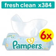 Pampers Fresh Clean dječje vlažne maramice - 384