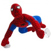 Marvel Spiderman Plush Doll - 9in Spider-man Super Hero Stuffed Figure w/ Suction Cups