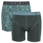 Vinnie-G boxershorts Leaves Dark-Print 2-pack