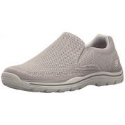 Skechers USA Men's Expected Gomel Slip-on Loafer, Light Gray, 8 M US
