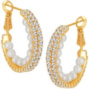 Sikka Jewels Gold Plated Gold Alloy Hoops/Huggies/Balis for Women