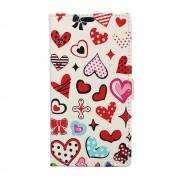 Sony Xperia XZ3 (калъф кожен) 'Hearts'
