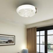 vidaXL Sklenená stropná lampa, okrúhla, 1 x E27, so vzorom