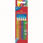 Creioane Colorate 6 culori Jumbo Grip Faber-Castell
