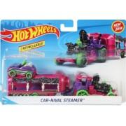Set Camion Si Masina Sport Hot Wheels Car Nival Steamer