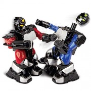 Sharper Image Remote Control Toy Boxing Battle Robots, Deliver Punches & Jabs in Fights, Dual Wireless Controllers W/ Radio Technology, Multi-Direction Movement, Battery Operated, Blue/Red