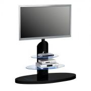 TV Standfuß 1636 mit LED-beleuchtung für Glasböden Schwarz