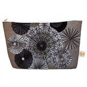 Kess InHouse Everything Bag Tapered Pouch Heidi Jennings Shadows Dark Circles 8.5 x 4 Inches (HJ1011AEP03)
