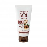 Bottega Verde SOL Argan - Crema solar facial - antiedad y antimanchas - acabado no graso matificante - con aceite de Argán y Vitamina E - protección alta SPF30 (50