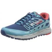 Columbia Montrail Bajada III Zapatillas de Senderismo para Mujer, Phoenix Blue, Sunset Red, 9 M US