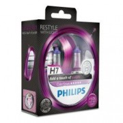 Set 2 Becuri auto far halogen Philips H7 Color Vision Purple 12V 55W