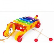 Emob Cute Puppy face Noise Maker Musical Instrument xylophone struck piano Toy For kids -MT-WT-144-B