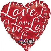Anagram International Hx Love Love Love Flat Balloon Multicolor