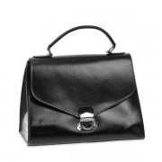 Dámská kožená černá taška S0212