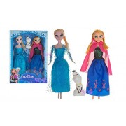 Bestie Toys Frozen Princess Sisters Anna and Elsa Dolls with Snow Olaf