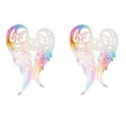 Merkloos 2x Kerstboomversiering ornament engelen vleugels 14 cm - Kersthangers