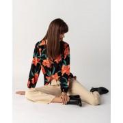 Helena Vera Tunika-Bluse mit Blumendruck schwarz female 48