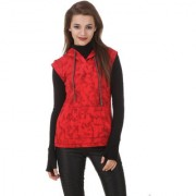 Texco Red Buttoned Sweatshirt for Women