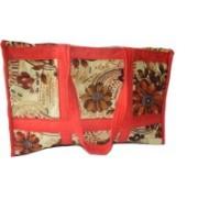 NavRup Handworks Small Travelling Bag, Light Weight Bag, Velvet Travelling Bag Small Travel Bag(Red)