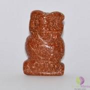 Bufnita goldstone maro figurina gravata 50mm
