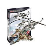 "CubicFun 3D Puzzle Kid- Series ""AH-1 Huey Cobra & Sukhoi Su-35"""