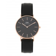 ユニセックス DANIEL WELLINGTON CLASSIC BLACK SHEFFIELD WATCH RG 40MM 腕時計 ブラック