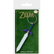 Pyramid Legend of Zelda - Master Sword Rubber Keychain